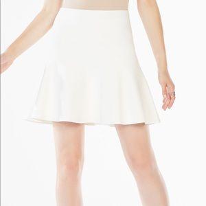 BCBG Ingrid A-line short skirt in Gardenia XS